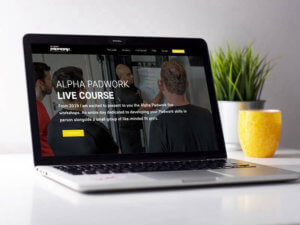 Alpha Padwork Homepage Design