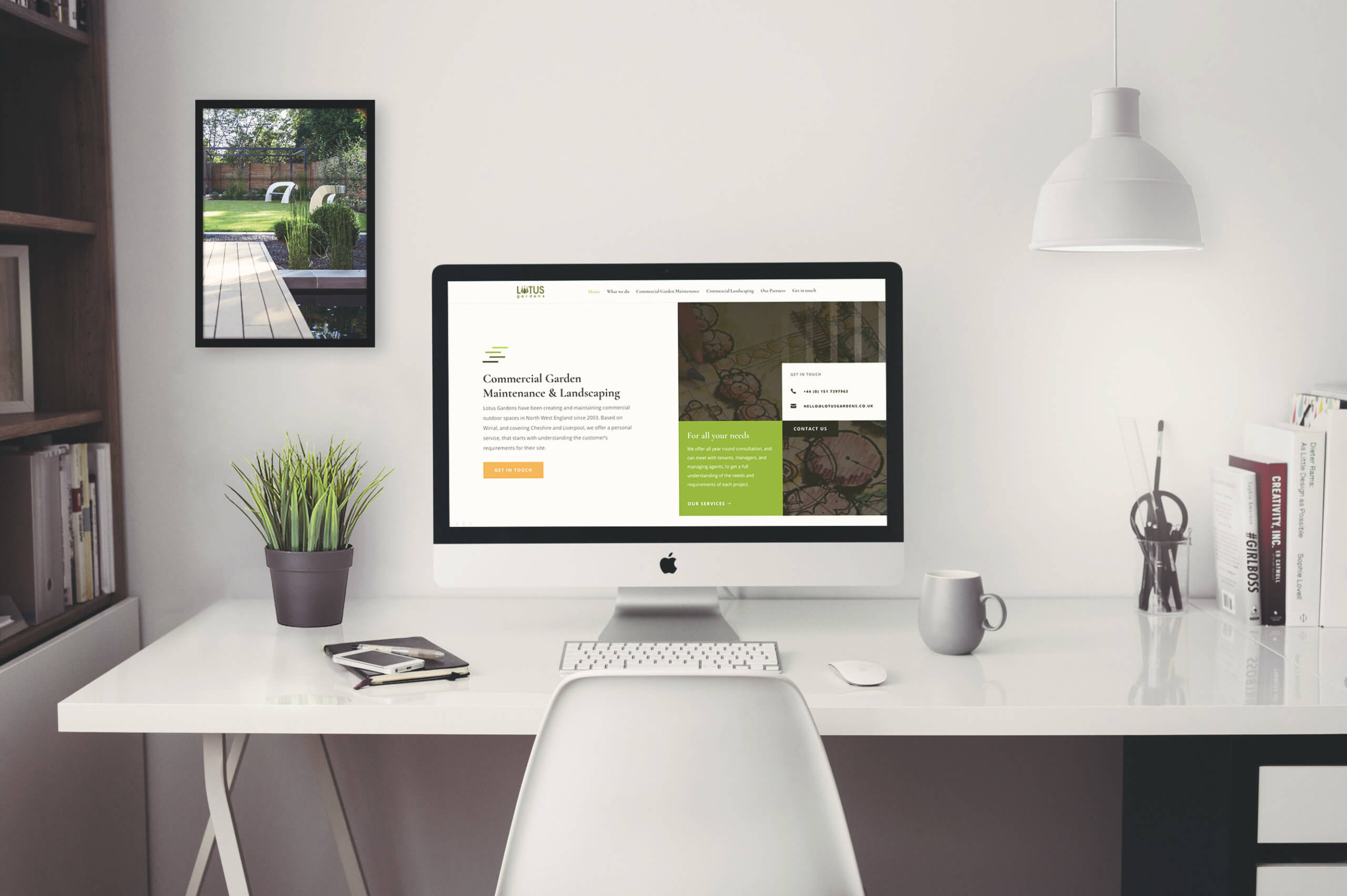 Garding website design project