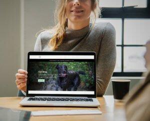 Dog grooming webiste design