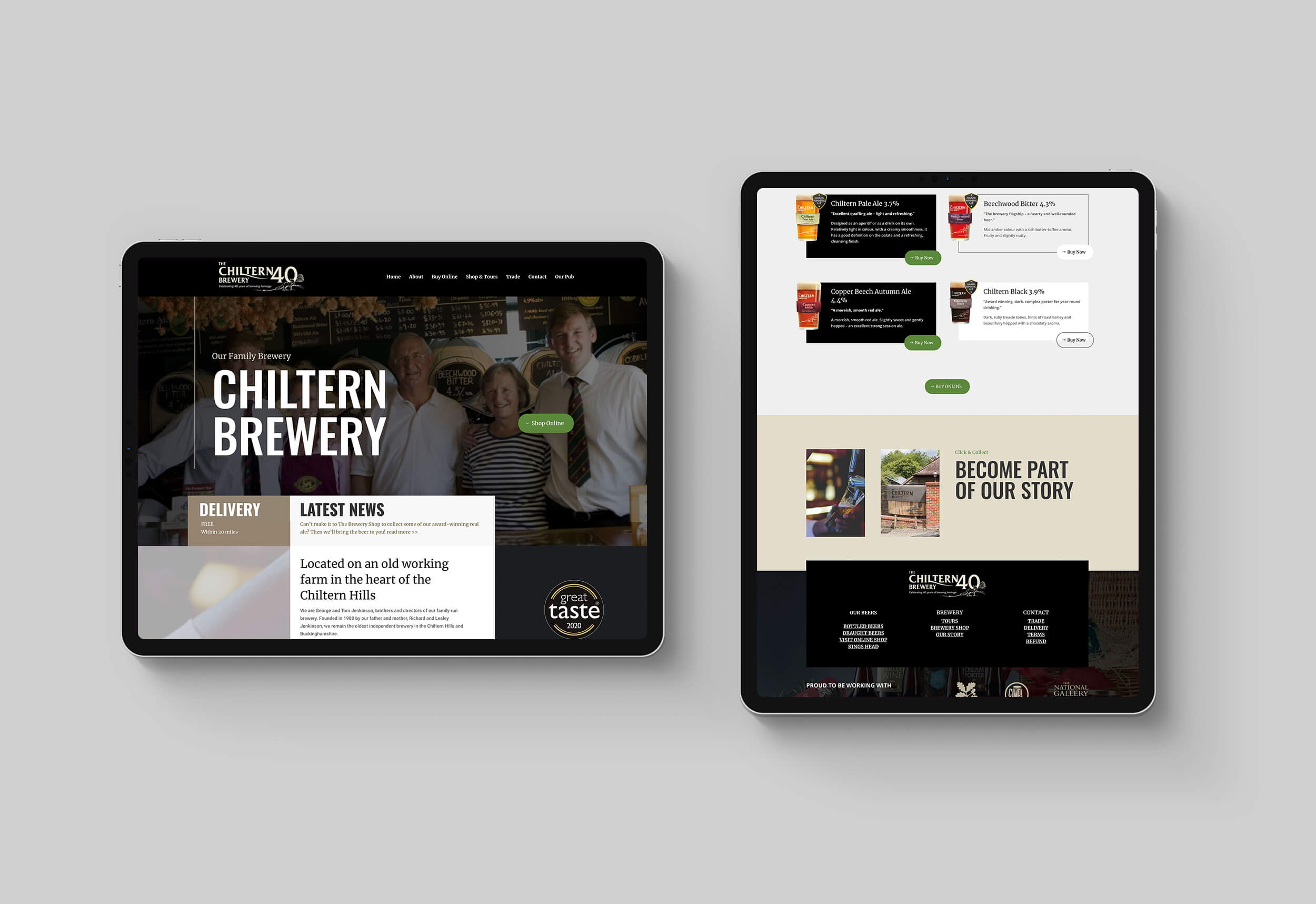 Chiltern Brewery Ecommerce and Website Project