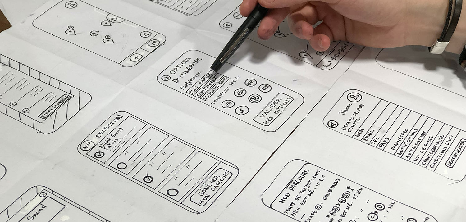 Mobile UX Wireframes
