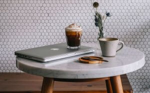 Coffee and website concept