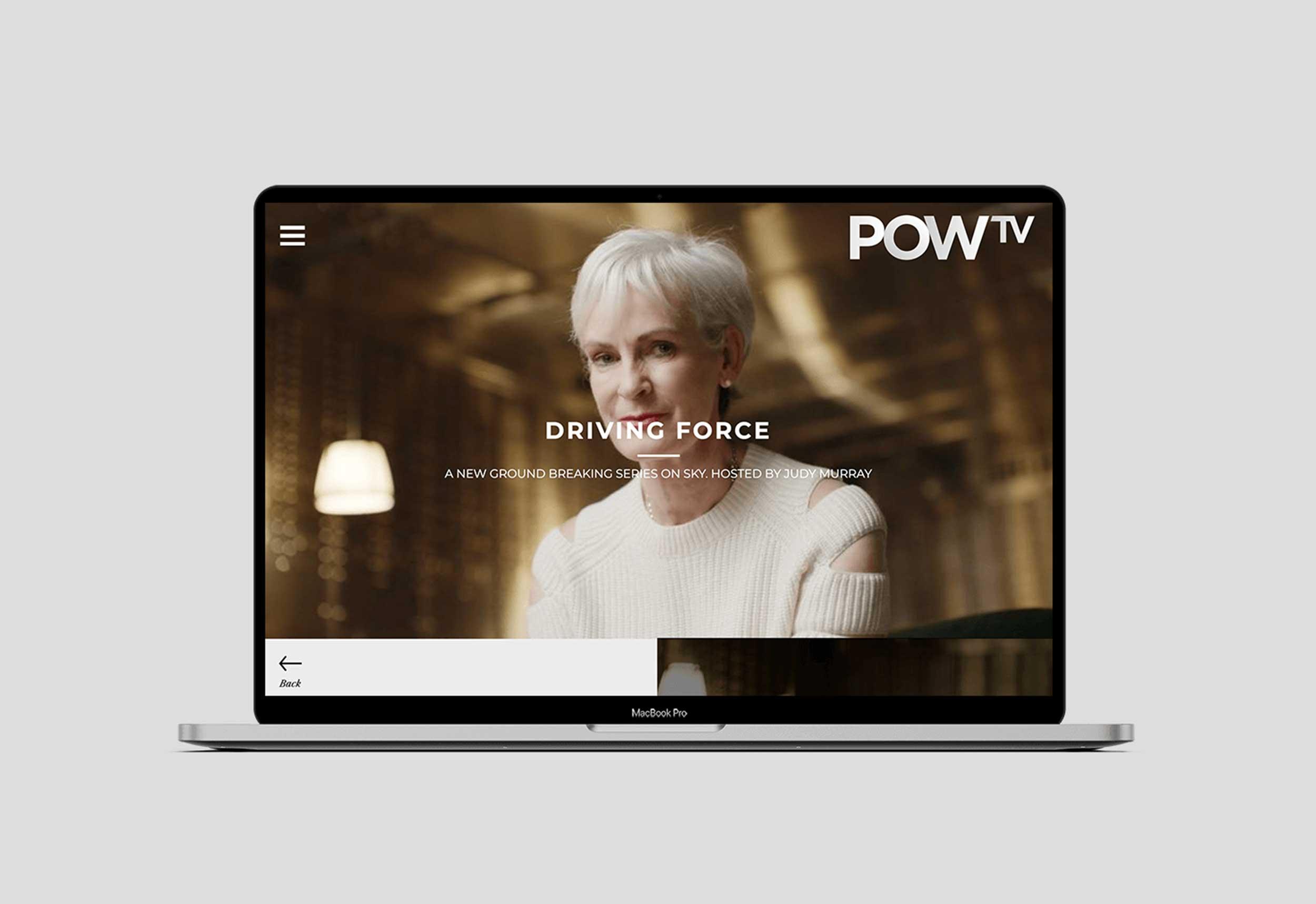 POW TV Homepage Concepts
